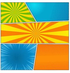 Comic book colorful blank background vector