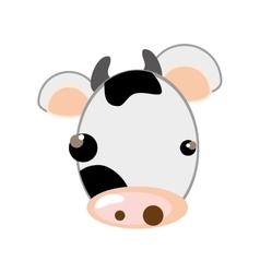 cow animal cartoon vector image vector image