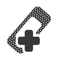 Cross medical symbol with icon vector