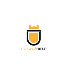 Crown shield logo vector