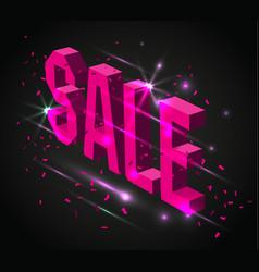 dark banner for black friday sale modern neon vector image