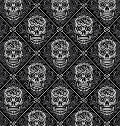 Day dead seamless pattern vector