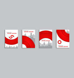 Editable brochure template layout annual report vector