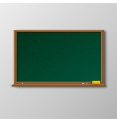 Empty green chalkboard with wooden frame vector