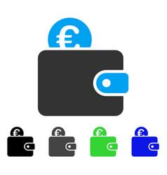 Euro wallet flat icon vector