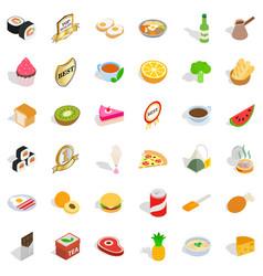 fauna icons set isometric style vector image