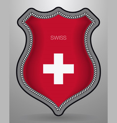 Flag of switzerland badge and icon vector