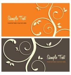 Floral card set vector