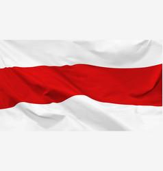 Fragment a waving belarusian historical flag vector