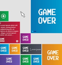 Game over concept icon sign buttons Modern vector