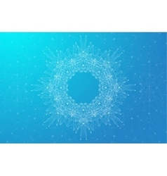 Geometric abstract background molecule and vector