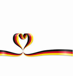 german flag heart-shaped ribbon vector image