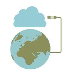 global hosting data center icon vector image