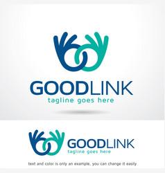 Good link logo template vector