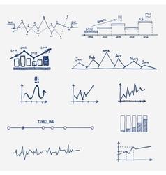 Graph chart business finance statistics vector
