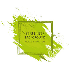 Green hand paint artistic dry brush stroke grunge vector