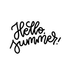 hello summer linear creative typography digital vector image