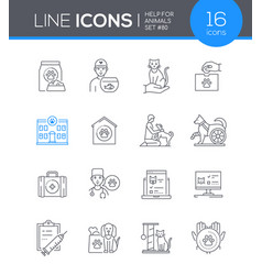 help for animals - modern line design style icon vector image