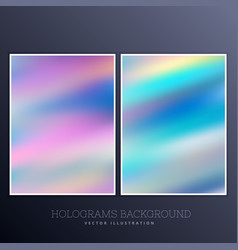 Holographic background with bright colors vector