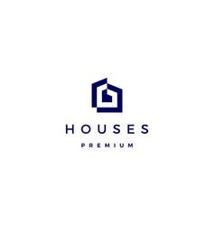 house home architect mortgage facade logo icon vector image