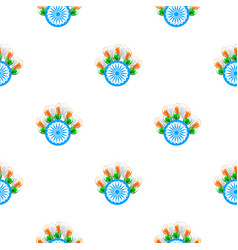 independence day india creative seamless pattern vector image