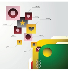Infographic with folder vector