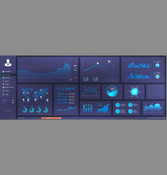 Informative and simple dashboard vector