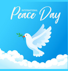 international day peace banner poster with vector image