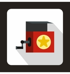 Jack in the box toy icon flat style vector