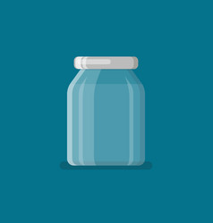 jar in flat style vector image