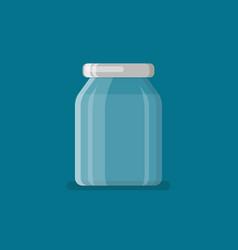 Jar in flat style vector