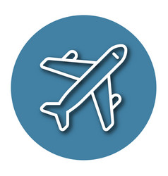 line icon plane with shadow eps 10 vector image