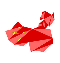low poly style map of china vector image