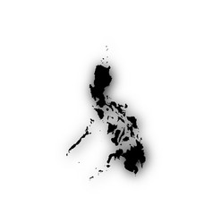 Map of the philippines with shadow vector
