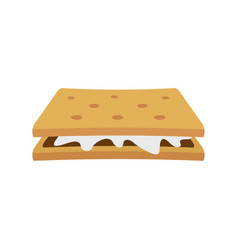 Marshmallow cracker icon flat style vector