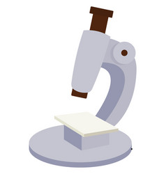 microscope on white background vector image