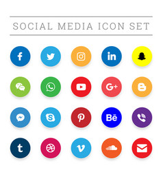 Modern social media icon set vector