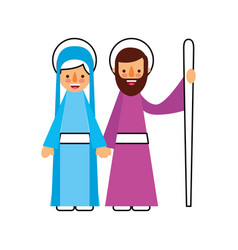 Nativity the virgin mary and joseph blessed vector