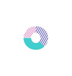 O geometric letter logo icon design vector