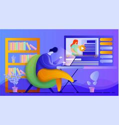 online education design concept flat vector image