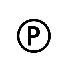 parking sign icon element of travel icon for vector image