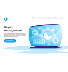 Project management data analysis planning vector