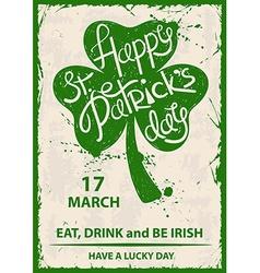 retro st patricks day typography poster vector image
