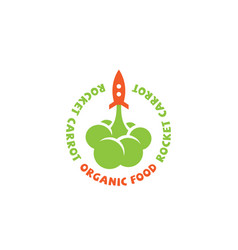 rocket carrot logo vector image