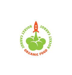 rocket carrot logo vector image
