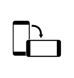 Rotate smartphone screen black icon 2 eps 10 vector