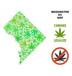 Royalty free cannabis leaves mosaic washington dc vector