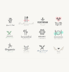 Set signs for food and drink vector