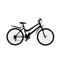 silhouette of city bike isolated on white vector image