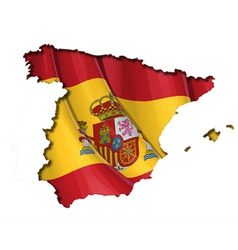 Spanish Map Flag vector image